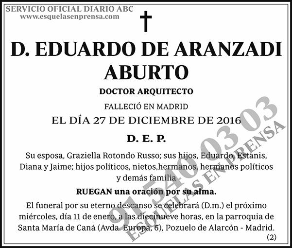 Eduardo de Aranzadi Aburto